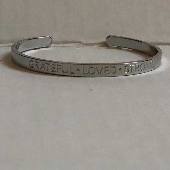 Talbots Cuff Bracelet * Grateful * Loved* Strong *